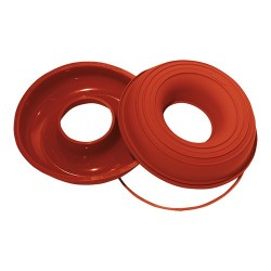 Flexible silicone Savarin cakemould, round