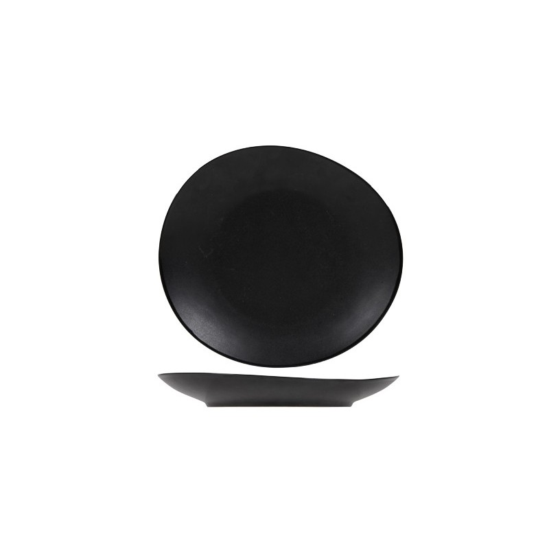 Culin art assiette service de table vongola noir - Service de table noir ...