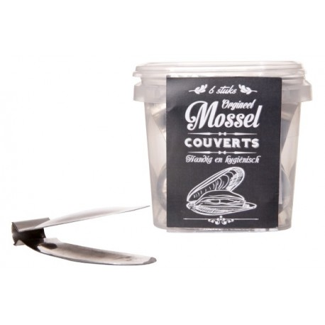 6 couverts / pinces à moules