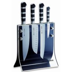 1905| Bloc transparent avec 4 couteaux DICK