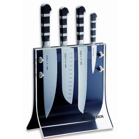 Bloc transparent avec 4 couteaux DICK 1905