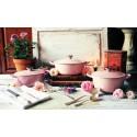 Cast iron round casserole 24cm Chiffon Pink Le Creuset