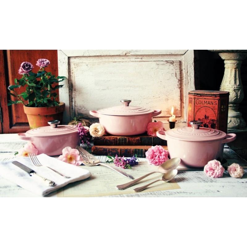 Cast Iron Round Cerole 24cm Chiffon Pink Le Creuset