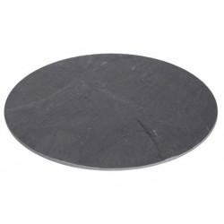Leisteen bord, rond 30cm