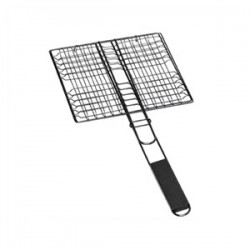 Double grille pour barbecue 22.5x21.5cm