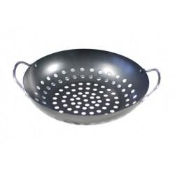 Bbq wok topper met handgrepen, 28x7cm