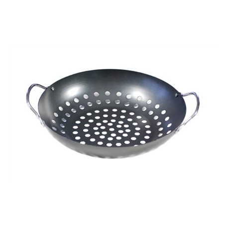 BBQ Wok Topper with handles 28x7cm