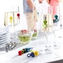 Wine glass identifiers Identity Pulltex