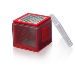 Râpe cube Microplane 3 lames rouge