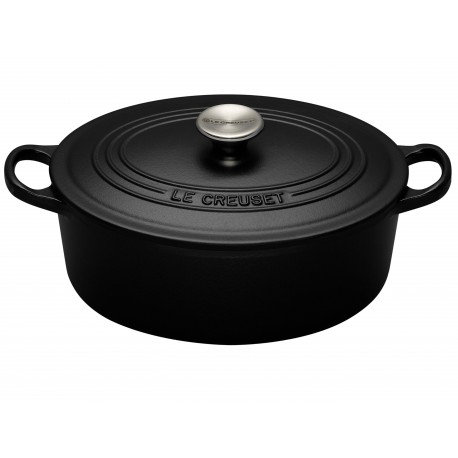 Cocotte ovale 29cm noire Tradition Le Creuset