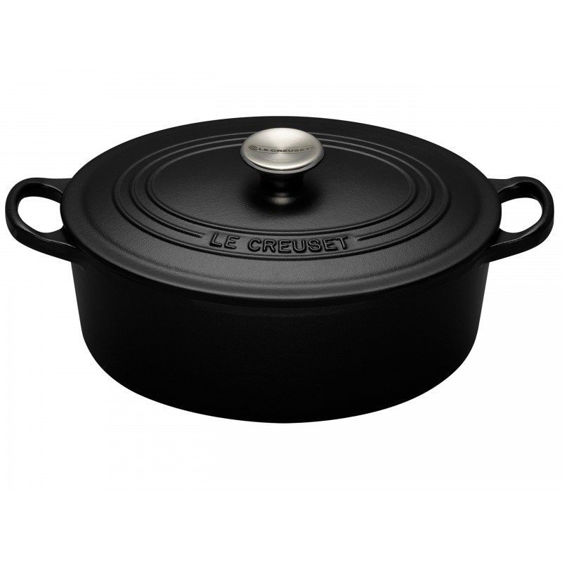 culin art cocotte le creuset en fonte 29cm 6 personnes noire mat. Black Bedroom Furniture Sets. Home Design Ideas