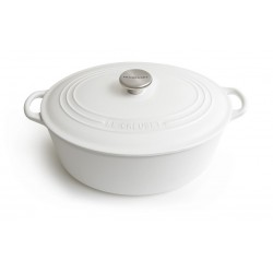 Cast iron oval casserole Le Creuset, 29cm, Cotton