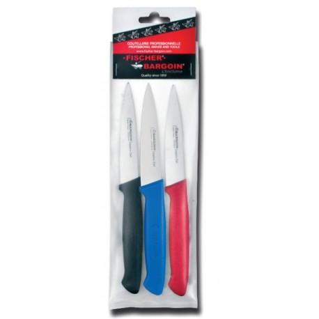 3 petits couteaux d'office Fischer Bargoin