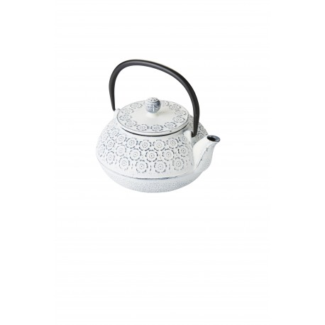 Cast iron teapot with filter, 0.85l, cream