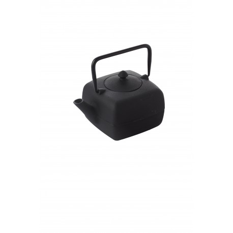 Cast iron teapot with filter, 1l, black