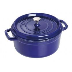 Staub cast iron round cocotte 24cm blue