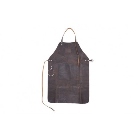 Apron leather brown