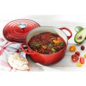 Cast iron round casserole 34cm Cerise Le Creuset