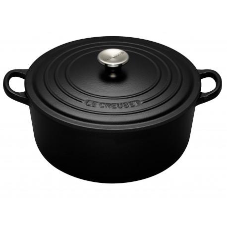Cast iron round casserole Le Creuset, 24cm, Black