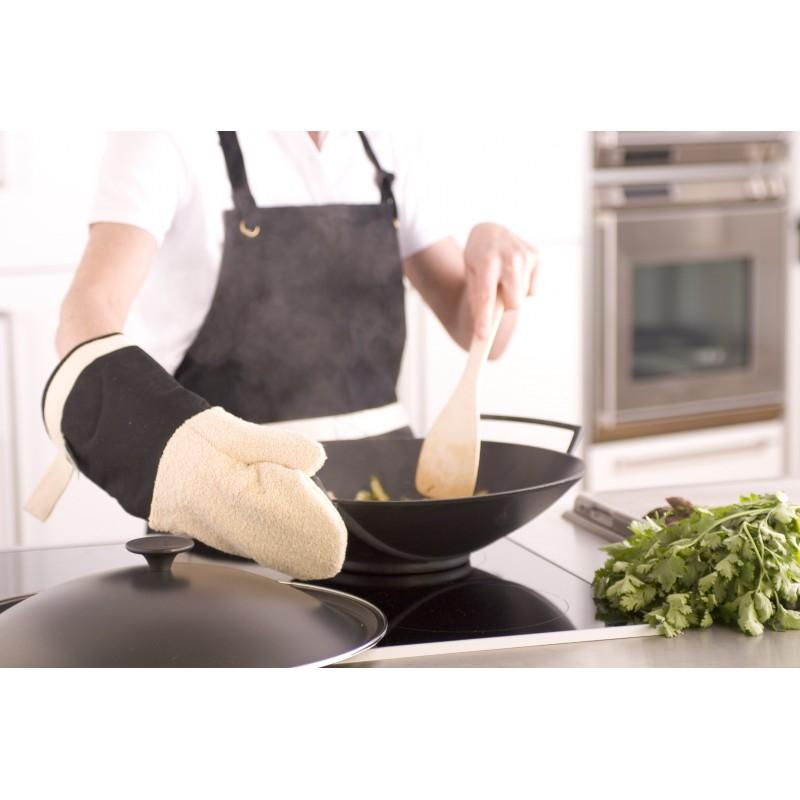 Culin-art|Chinese wok Le Creuset 6/8p. 36cm cast iron tempura grill