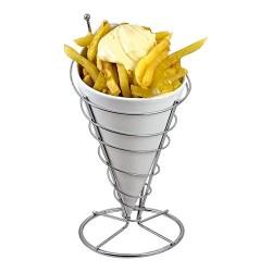 Cornet de frites porcelaine