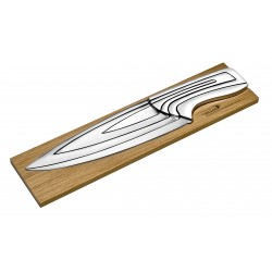 4 kitchen knives Meeting Burgundy natural oak stand