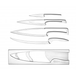 4 kitchen knives Meeting stainless steel