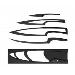 Ensemble de 4 couteaux Noirs anti-adhésifs MEETING